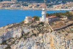 La réservation de mer de San Antonio Cape Phare Denia, Espagne Photographie stock libre de droits