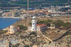 La réservation de mer de San Antonio Cape Phare Denia, Espagne Photographie stock