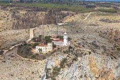 La réservation de mer de San Antonio Cape Phare Denia, Espagne Image libre de droits
