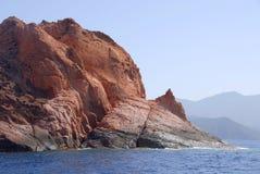 La réserve naturelle de Scandola, Corse, France Image stock