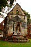 La résidence principale Lopburi de Chambre de Wichayen d'interdiction fournissent le vieux bâtiment historique photographie stock libre de droits