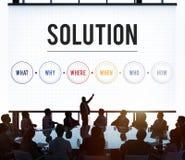 La résolution des problèmes de solution partagent le concept d'idées photos stock