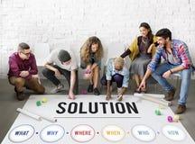 La résolution des problèmes de solution partagent le concept d'idées images libres de droits