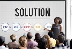 La résolution des problèmes de solution partagent le concept d'idées images stock
