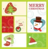 La rétro étiquette de Noël a placé 2 Photos stock