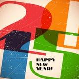 La rétro carte avec 2015 se connectent le papier rayé Image stock