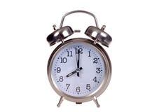 La rétro horloge a isolé Photo stock