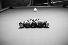 La rétro photo de style de l'des boules de billards, bruit s'est ajoutée pour vrai Images libres de droits