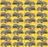 La rétro voiture pattren Image stock