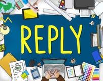 La rétroaction de réponse répond au concept de questions de l'information Image libre de droits