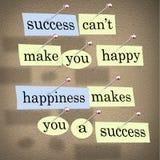 La réussite ne peut pas vous rendre heureux Photo stock