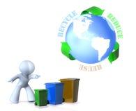La réutilisation, réutilisent, réduisent ! Images stock