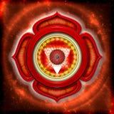 La raíz Chakra stock de ilustración