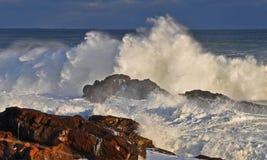 La rabia del océano Imágenes de archivo libres de regalías