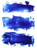 La raccolta dei colpi acrilici astratti della spazzola di colore macchia Fotografia Stock Libera da Diritti