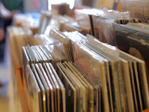 La raccolta dei dischi Immagine Stock Libera da Diritti