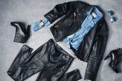 La raccolta dei vestiti eleganti Fotografia Stock