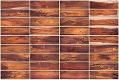 La raccolta del fondo di legno di struttura ha messo 02 su fondo bianco Immagine Stock