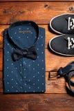 La raccolta dell'uomo dei vestiti nello stile casuale Immagine Stock Libera da Diritti