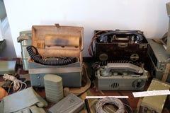 La raccolta delle armi e delle attrezzature utilizzate durante la guerra per indipendenza croata, Pakrac Fotografia Stock