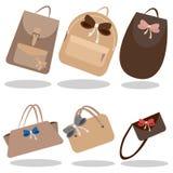 La raccolta delle borse illustrazione di stock