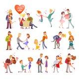 La raccolta delle coppie felici profila le icone Fotografie Stock Libere da Diritti
