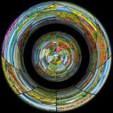 La raccolta delle foto della natura nel concetto del collage Fotografia Stock