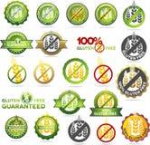 La raccolta di glutine libera le guarnizioni royalty illustrazione gratis