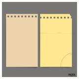 La raccolta di vecchio strato di carta, aspetta per il vostro messaggio Vettore IL Immagini Stock Libere da Diritti