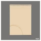 La raccolta di vecchio strato di carta, aspetta per il vostro messaggio Vettore IL Fotografie Stock Libere da Diritti