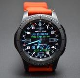 La raccolta di Watchface per il wear& di androide tizen Immagine Stock