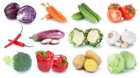 La raccolta fresca dei pomodori della lattuga delle patate delle carote delle verdure è Fotografia Stock