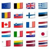 la raccolta inbandiera i paesi nazionali Fotografie Stock Libere da Diritti