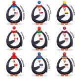 La raccolta smazza i patrioti di fan dei pinguini del paese Immagine Stock Libera da Diritti
