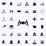 la raccolta unita imbarazza l'icona Insieme universale delle icone di lavoro di squadra per il web ed il cellulare royalty illustrazione gratis