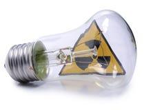 La radiación firma adentro la lámpara Fotografía de archivo libre de regalías