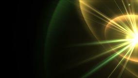 la radiazione di energia di scienza di tecnologia 4k rays l'esplosione della stella delle ondulazioni, fuochi d'artificio della p stock footage