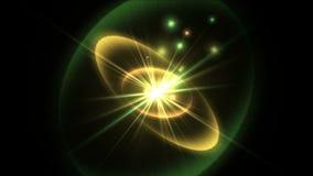 la radiazione di energia di scienza di tecnologia 4k rays l'esplosione della stella delle ondulazioni, fuochi d'artificio della p video d archivio