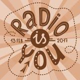 La radio est vous lettrage Image libre de droits