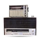 La radio vieja aislada Imágenes de archivo libres de regalías