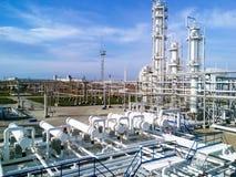 La raffineria di petrolio Fotografie Stock