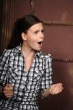 La ragazza è arrabbiata Fotografia Stock