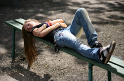 La ragazza - adolescente Fotografia Stock Libera da Diritti