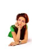 La ragazza alla moda Fotografie Stock