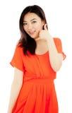 La ragazza asiatica attraente 20 anni ha sparato in studio Fotografia Stock