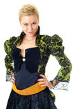 La ragazza attraente in un vestito di carnevale Immagine Stock