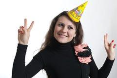 La ragazza celebra Immagine Stock Libera da Diritti