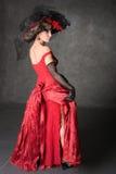 La ragazza charming in un bello vestito Immagini Stock