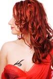 La ragazza con capelli rossi Immagini Stock Libere da Diritti