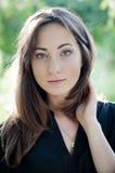 La ragazza con gli occhi verdi Fotografie Stock